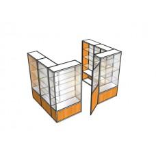 Павильон пристенный с дверью ПАВ-4-1