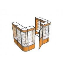 Павильон пристенный с дверью ПАВ-5-3
