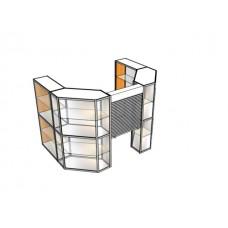 Павильон пристенный с рольставней ПАВ-1-2