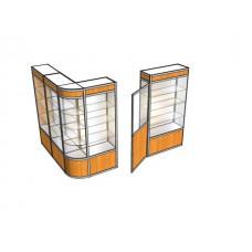 Павильон угловой с дверью ПАВ-5-3