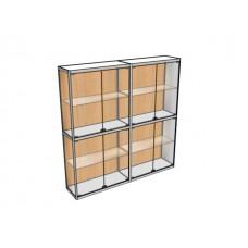 Двухметровая витрина ВТ-1 пристенная