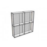 Двухметровая витрина ВТ-1 с экономпанелью