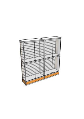 Двухметровая витрина ВТ-2 с экономпанелью