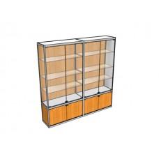 Двухметровая витрина ВТ-4 пристенная