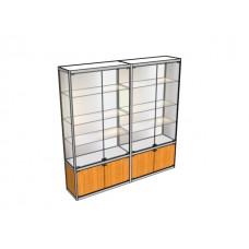 Двухметровая витрина ВТ-4 в центр зала