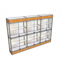 Трехметровая витрина ВТ-3 в центр зала