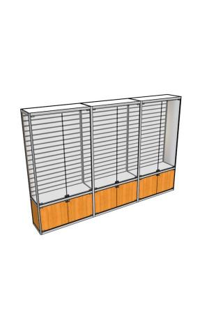 Трехметровая витрина ВТ-4 с экономпанелью