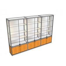 Трехметровая витрина ВТ-4 в центр зала